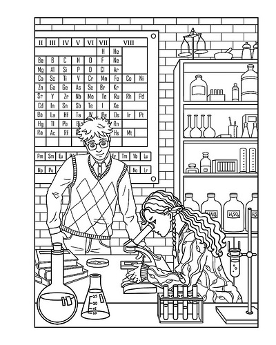 Amanda Lester and the Pink Sugar Conspiracy Coloring Book page 1