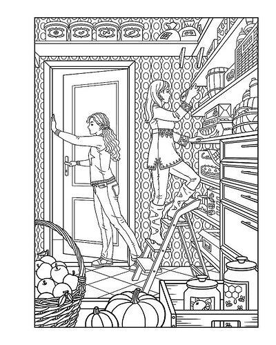 Amanda Lester and the Pink Sugar Conspiracy Coloring Book page 2